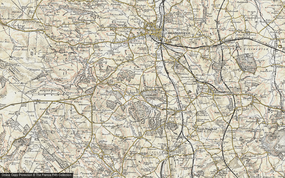 Old Map of Wingerworth, 1902-1903 in 1902-1903