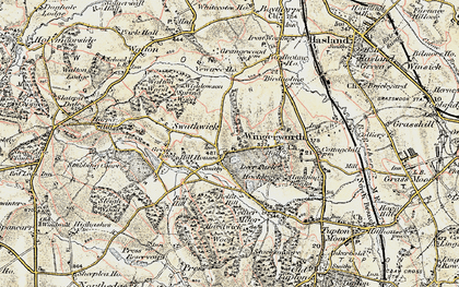 Old map of Wingerworth in 1902-1903