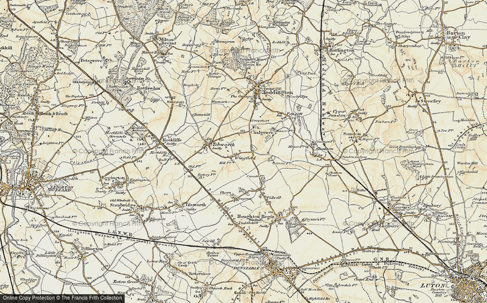 Old Map of Wingfield, 1898-1899 in 1898-1899
