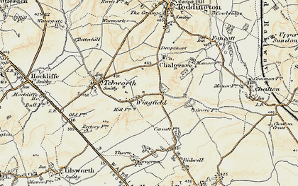 Old map of Wingfield in 1898-1899