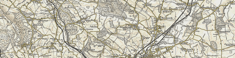 Old map of Wingfield in 1903