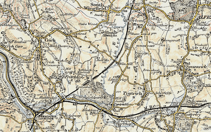 Old map of Wingfield Park in 1902
