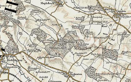 Old map of Wink, The in 1902-1903