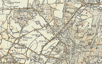 Old map of Winkfield Place in 1897-1909