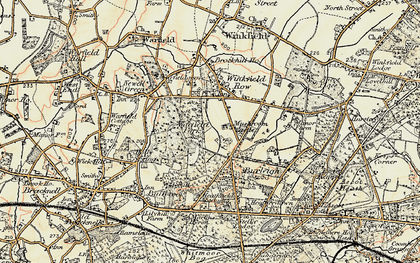 Old map of Whitegrove in 1897-1909