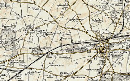 Old map of Winklebury in 1897-1900