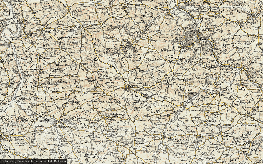 Old Map of Winkleigh, 1899-1900 in 1899-1900