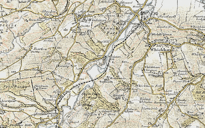 Old map of Winlaton Mill in 1901-1904