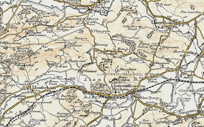 Old map of Winllan in 1902-1903