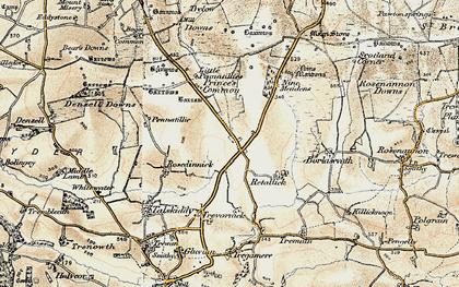 Old map of Winnard's Perch in 1900