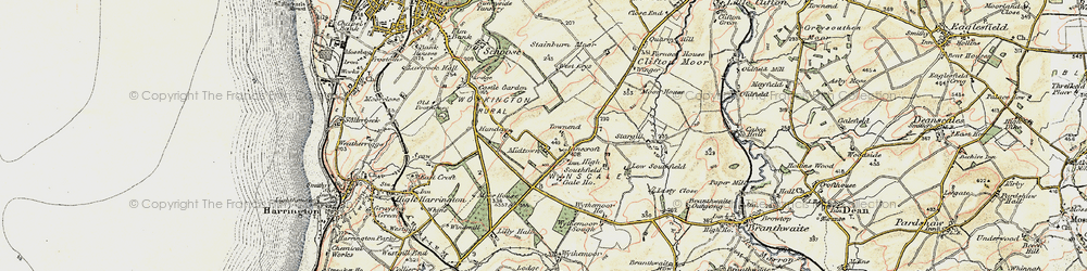 Old map of Winscales in 1901-1904