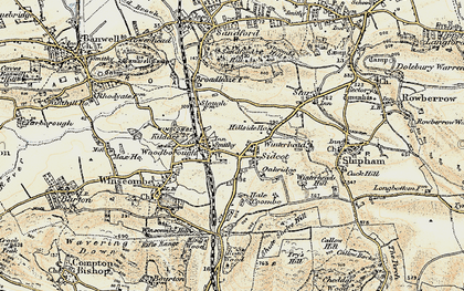 Old map of Winscombe in 1899-1900