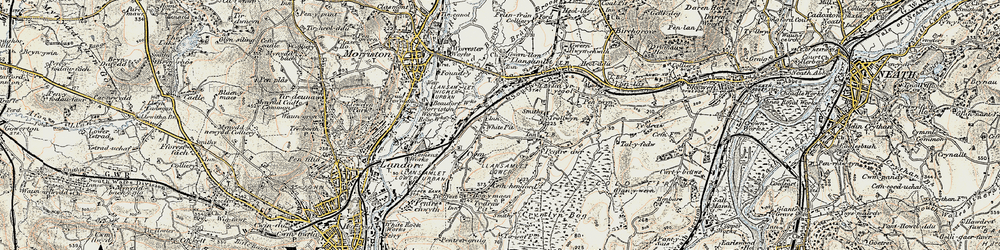 Old map of Winsh-wen in 1900-1901