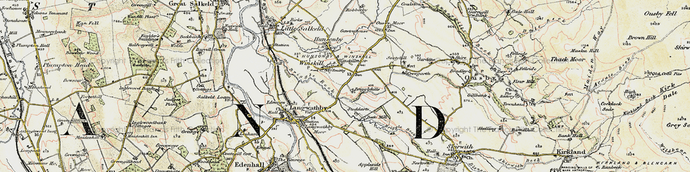 Old map of Winskill in 1901-1904