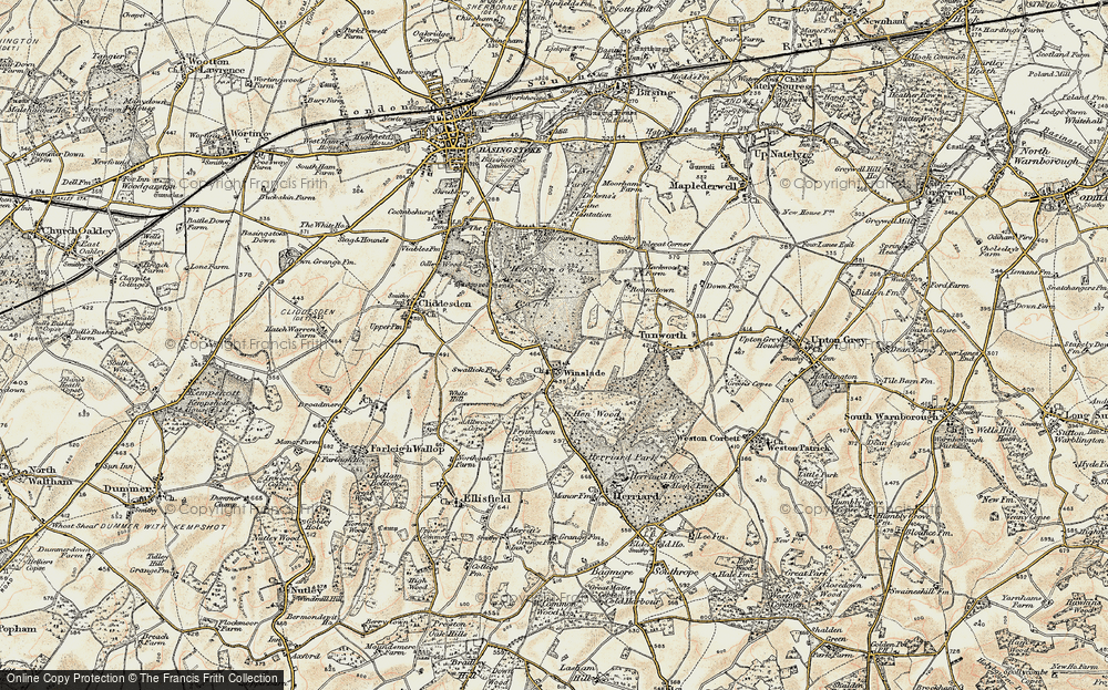 Old Map of Historic Map covering Allwood Copse in 1897-1900