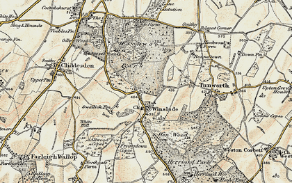 Old map of Winslade in 1897-1900