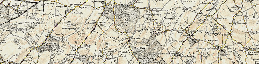 Old map of Allwood Copse in 1897-1900