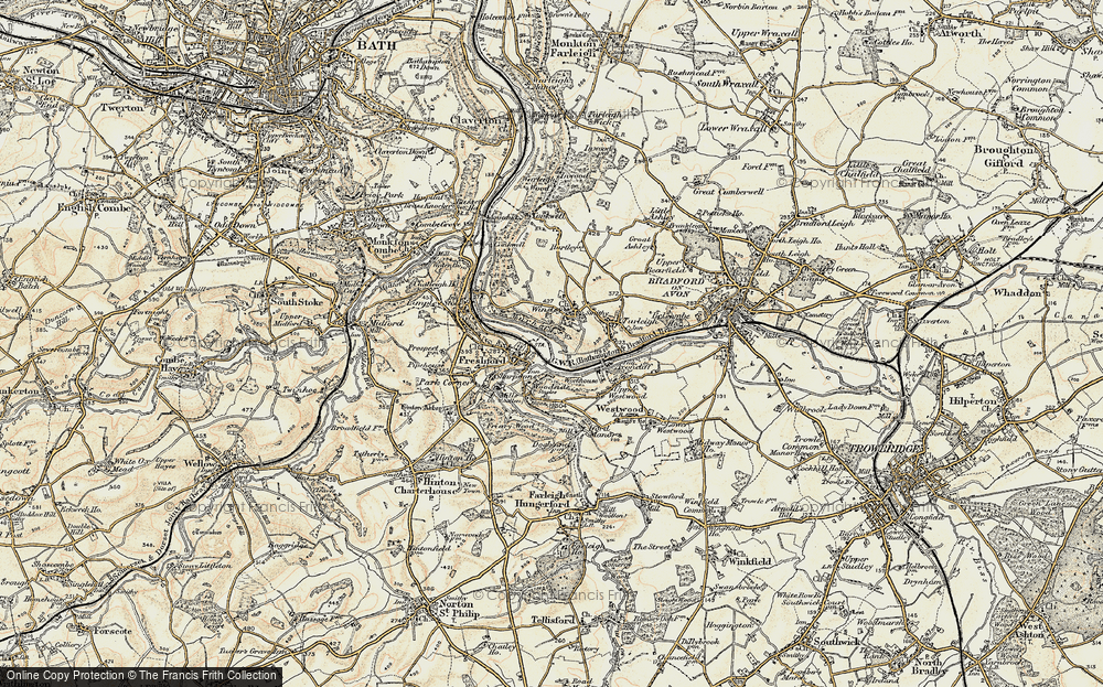 Old Map of Winsley, 1898-1899 in 1898-1899