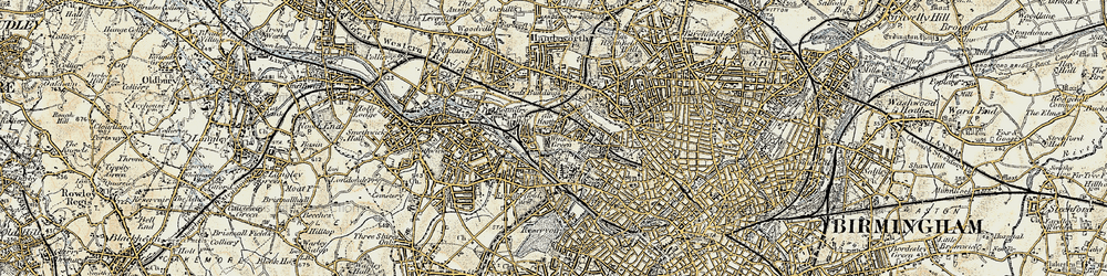 Old map of Winson Green in 1902