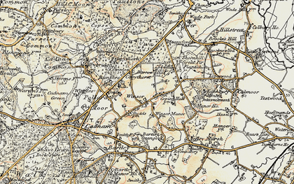 Old map of Winsor in 1897-1909