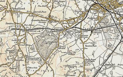 Old map of Winstanley in 1903