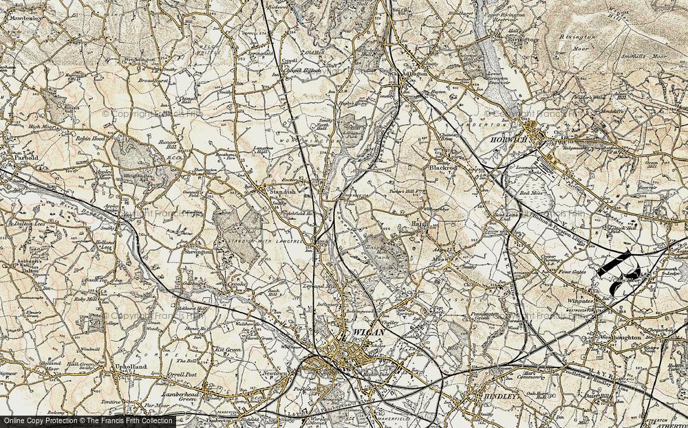 Old Map of Winstanleys, 1903 in 1903