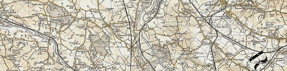 Old map of Winstanleys in 1903
