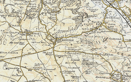 Old map of Winster in 1902-1903