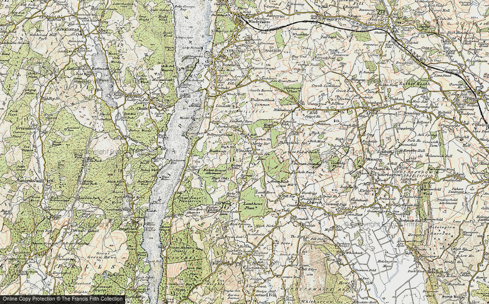 Old Map of Winster, 1903-1904 in 1903-1904