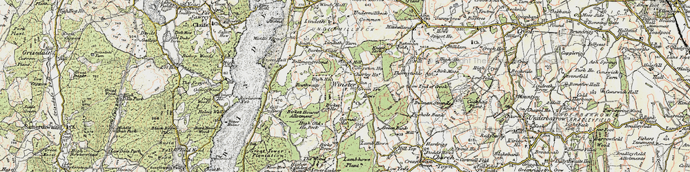 Old map of Winster in 1903-1904