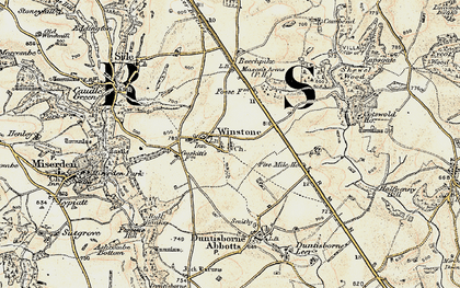 Old map of Winstone in 1898-1899