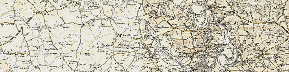 Old map of Winswell Moor in 1900