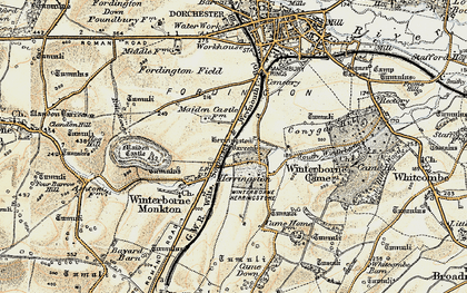 Old map of Winterborne Herringston in 1899