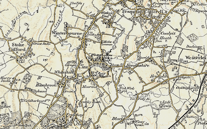 Old map of Winterbourne Down in 1899