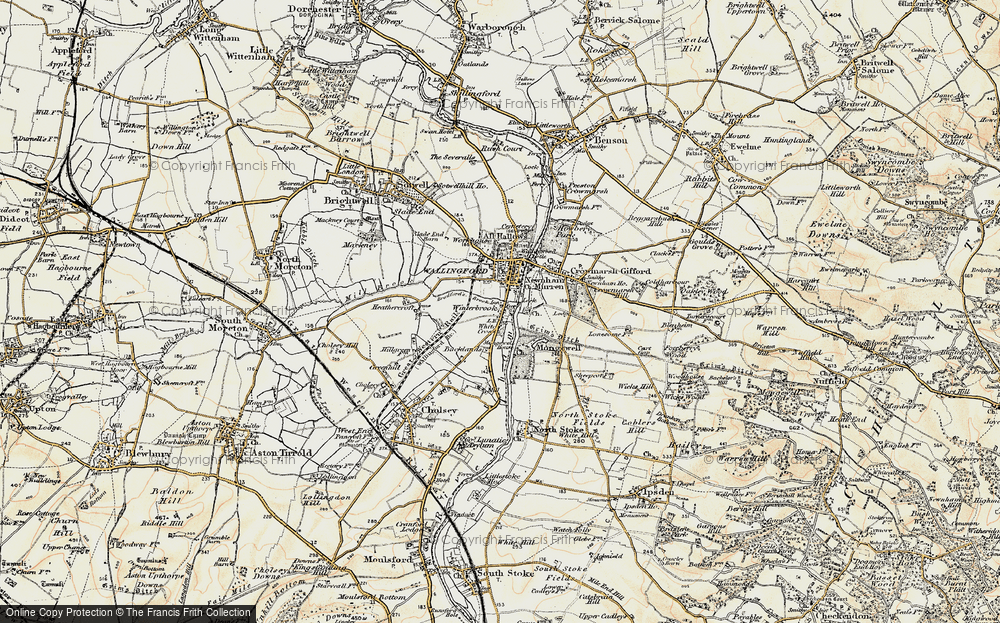 Old Map of Winterbrook, 1897-1898 in 1897-1898