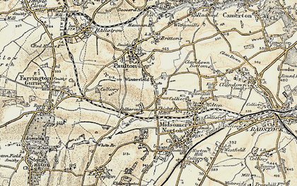 Old map of Winterfield in 1899