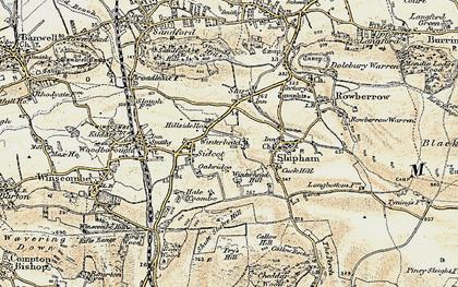 Old map of Winterhead in 1899-1900