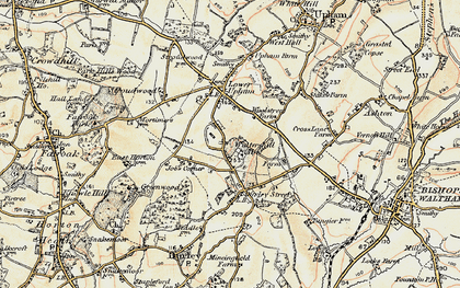 Old map of Wintershill in 1897-1900