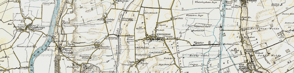 Old map of Winterton in 1903-1908