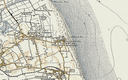 Old map of Winterton Dunes (Nature Reserve) in 1901-1902
