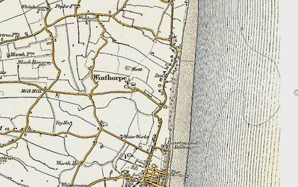 Old map of Winthorpe in 1901-1903