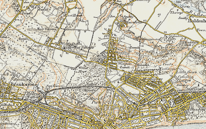 Old map of Winton in 1899-1909