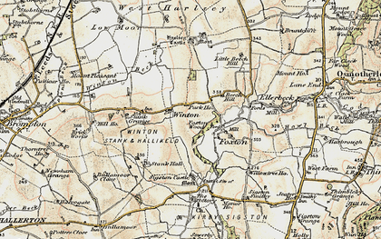 Old map of Winton Grange in 1903-1904