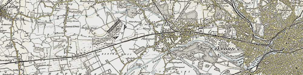 Old map of Winton in 1903