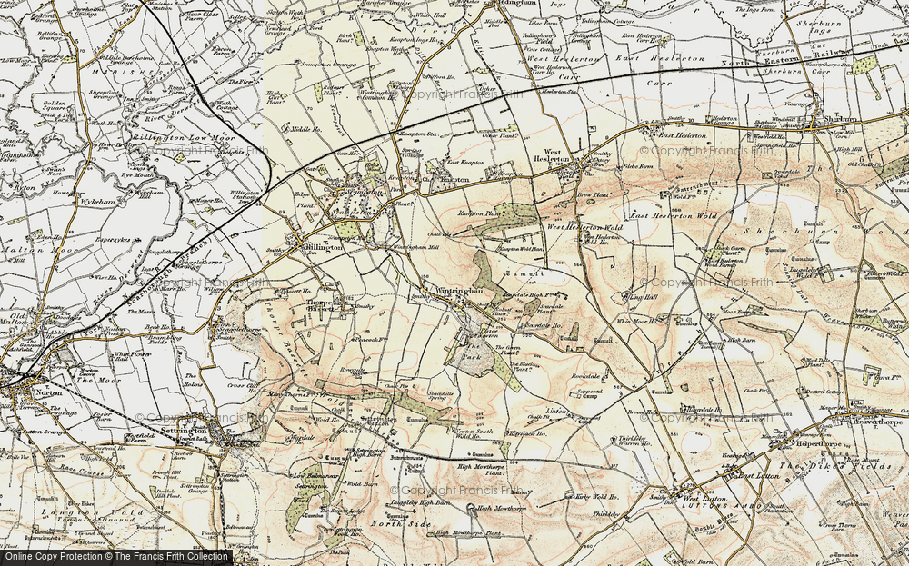Old Map of Wintringham, 1903-1904 in 1903-1904