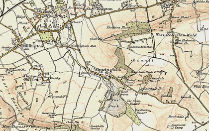Old map of Linton Wold in 1903-1904