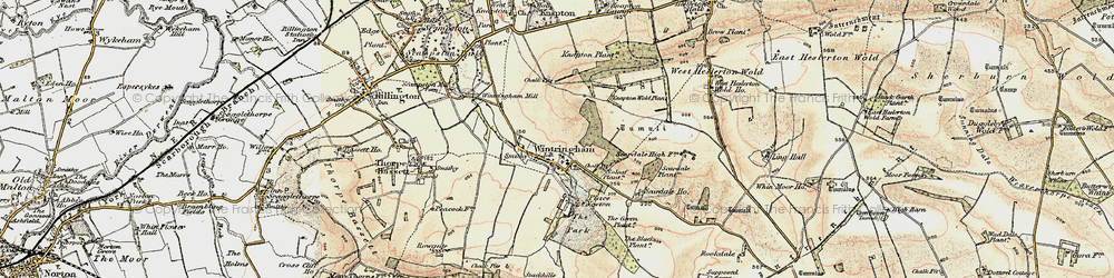 Old map of Wintringham in 1903-1904