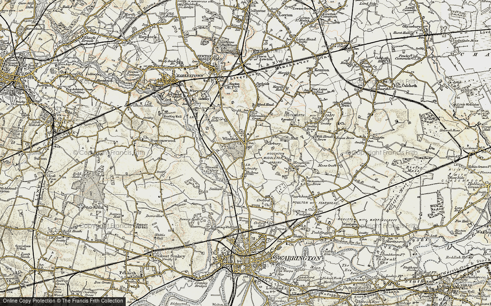 Old Map of Winwick, 1903 in 1903
