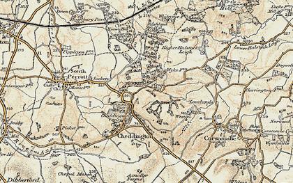 Old map of Winyard's Gap in 1899