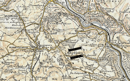 Old map of Wigwell Grange in 1902-1903